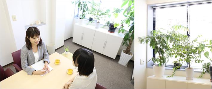 リラックスできる会議室
